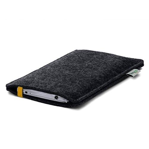 Stilbag Etui Feutre 'LEON' pour Apple iPhone 3Gs - Couleur: jaune-anthracite