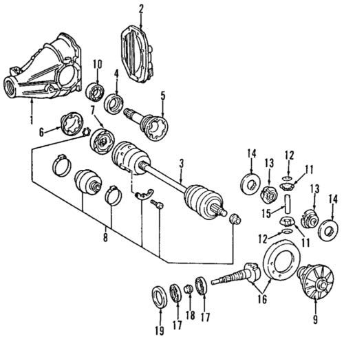Mercedes-Benz 220 350 00 37, CV Joint Boot Kit