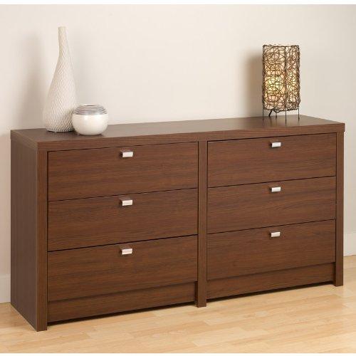 Prepac Series 9 Designer 6-Drawer Dresser, Espresso