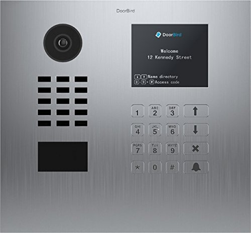 DoorBird IP Video Door Station D21DKH, Brushed Stainless Steel, Flush-mounted (horizontal) Display Module - Multi Tenants - Access Control- POE Capable