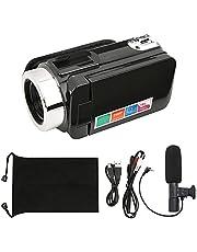 Digital Video Camera, Camcorder Recorder, 18X Digital Camcorder 3 Inch LCD Screen Video Camera for Travel Picnic Enthusiast Professionals(Standard + Microphone)
