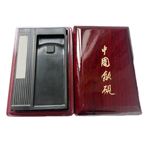 Four Famous Imperial Yan Wen Four Treasures Calligraphy Supplies 6 Inch Ink Stone Inkstone Three Famous Home Decoration Collection by GHGJU