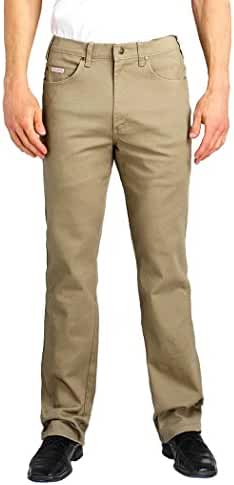 Grand River Big and Tall Khaki Stretch 5 Pocket Traditional Fit Jean