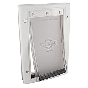 PetSafe Plastic Pet Door Small with Soft Tinted Flap, Paintable White Frame, for dogs under 15 lb.