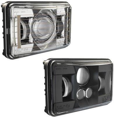 (552571 - JW Speaker Model 8800 Evolution Headlight - 0552571 - With Bulb(s) Sealed beam LED, Clear Lens; Black Interior, DOT/SAE Compliant, Sold)