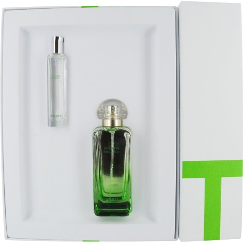 Hermes Un Jardin Sur Le Toit Set Eau de Toilette Spray and Eau de Toilette Spray Mini