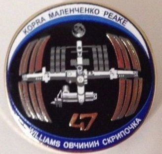 - Nasa Space Program Expedition 47 Mission Lapel Pin Emblem International Space Station Kopra Peake Malenchenko Ovchinin Skripochka Williams