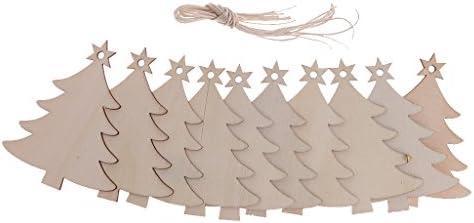 クリスマスツリー 写真撮り展示用 掛け物 樹状 DIY飾り 家庭用ペンダント パーティー用 木製品 10ピース入り