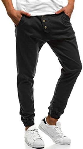 ジョーズボトパンツを実行している男性ズボンシンプルな居心地の良いボタン