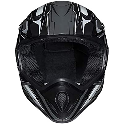 Raider RX1 Unisex-Adult MX Off-Road Helmet (Black/Silver, Small): Automotive