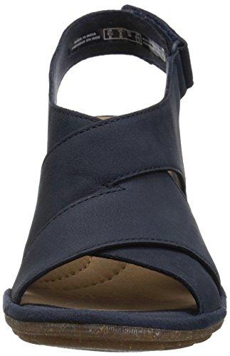 Sandal Women's Clarks Nolte Sashlin Heeled Nubuck Navy IaCwUqHC