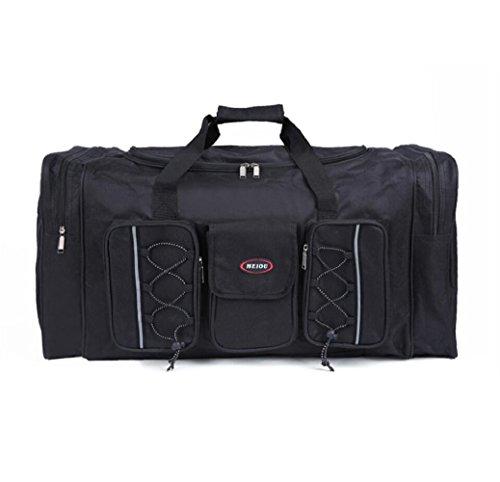 ZC&J Bolso de nylon impermeable general del bolso de la bolsa de hombro del bolso de recorrido de la capacidad grande de los 68L de la capacidad grande del bolso del recorrido de los hombres y de las  A
