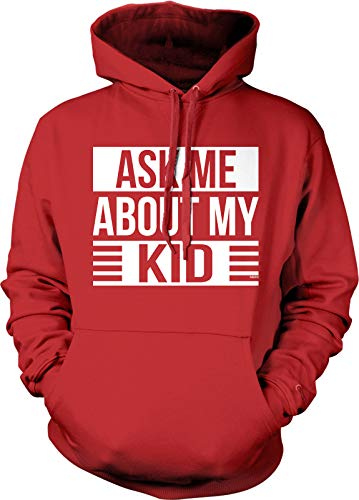 NOFO Clothing Co Ask Me About My Kid Hooded Sweatshirt, M Red]()