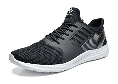 Dream Pairs 160821-M New Men's Sport Light Weight Flexible Athletic Gym Running Shoes Sneakers BLACK WHITE SIZE (Black Light Cheap)