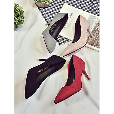 Schwarz Sommer Pumps Normal cm amp; Kleid Mikrofaser mehr Heels Rosa Grau Rot High black Pumps Damen ggx LvYuan 12 Walking Stöckelabsatz c1wqYp7CY