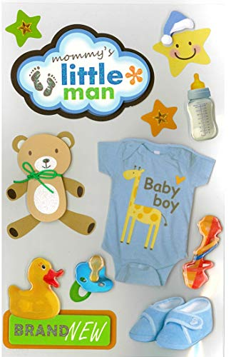 Little Man Baby Boy 3D Title Stickers Set