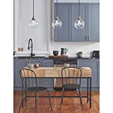 Primo Industrial Kitchen Pendant Lighting | Antique Brass Hanging Light Fixture LL-P429-AB
