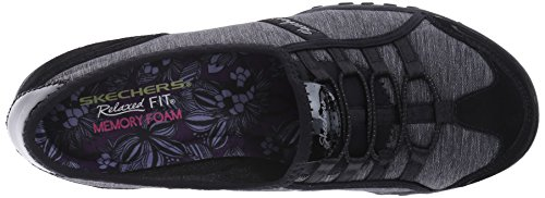 Skechers Breathe-easy allure - Zapatillas Mujer Black Suede/Charcoal