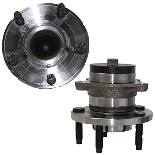 Detroit Axle - (2) FWD REAR Wheel Bearing and Hub Assembly Pair for 2007-2008 Ford Edge FWD - [2007-2008 Lincoln MKX FWD] - SQUARE ABS PLUG