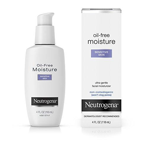 Neutrogena Oil Free Moisture Daily Hydrating Facial Moisturizer Neck Cream with Glycerin – Fast Absorbing Ultra Gentle Lightweight Face Lotion Sensitive Skin Face Moisturizer, 4 fl. oz Pack of 2