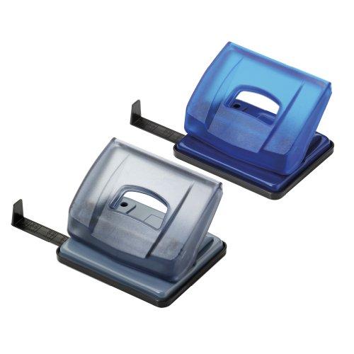 Herlitz 10690824 Locher (Büro) Bürolocher 1,6mm transluzent mit Anschlagschiene (Farben sortiert)