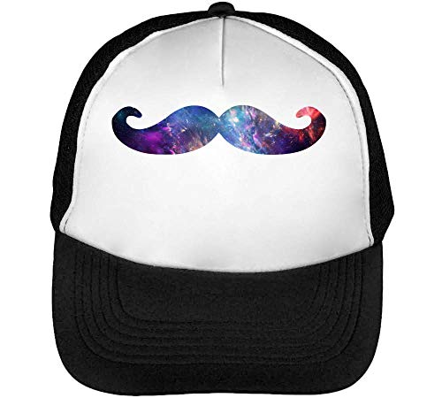 Beisbol Hombre Blanco Nebula Snapback Negro Gorras Fashioned Hipster Moustache IxYST86