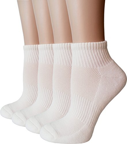 Athletic Quarter Sock (Women's Athletic Low Cut Ankle Quarter Cushion Socks with Gift Box 4 Pack)