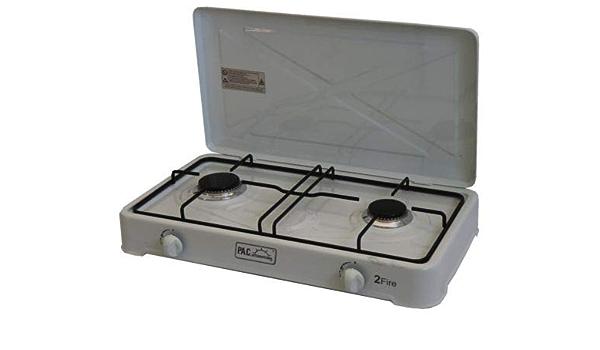 P.A.C. International Cocina Blanca A 2 quemadores A Gas ...
