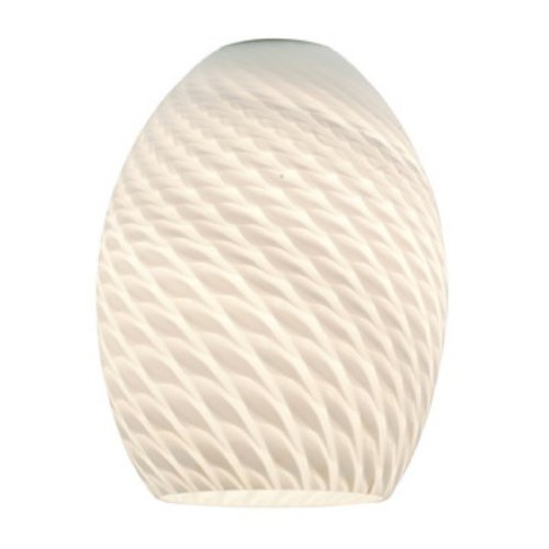 FireBird - Brandy Pendant Glass Shade - White Firebird Glass Finish