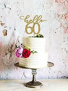 Decoración para tarta de 60 cumpleaños para 60 cumpleaños ...