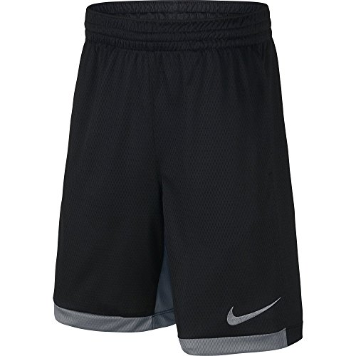 NIKE Boys' Dry Trophy Athletic Shorts, Black/Cool Grey/Cool Grey, X-Large