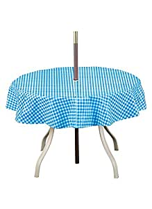 Amazon Com Checkered Umbrella Tablecloth Round 70