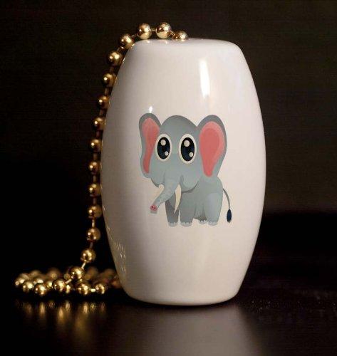 Safari Elephant Peeper Porcelain Fan / Light