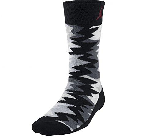Jordan Nike Retro 7 Sneaker Crew Socks Black, Grey, White, Red