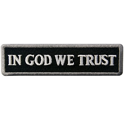 Off God (EmbTao In GOD We Trust Embroidered Tactical Morale Iron On Sew On Patch - White & Black)