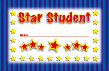 * INCENTIVE PUNCH CARDS STAR STUDENT