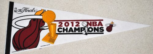Miami Heat Official 2012 NBA Championship Commerative felt pennant full size Limited Edition by WinCraft