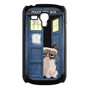 Samsung Galaxy SIII mini i8190 Case,Police Call Box And Cute Grumpy Cat High Definition Design Cover With Hign Quality Hard Plastic Protection Case