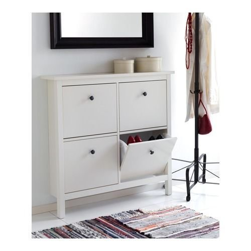 IKEA HEMNES   Shoe Cabinet With 4 Compartments   White: Amazon.co.uk:  Kitchen U0026 Home