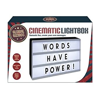 A4 cinematic light box diy message white cinema lightbox for Lightbox amazon