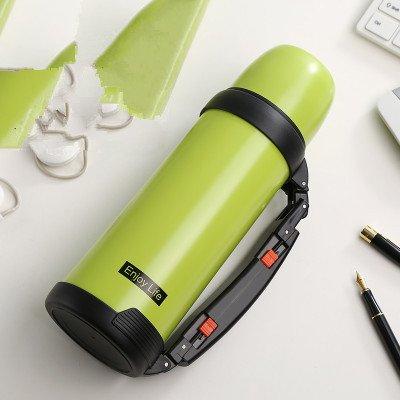 大容量ポータブルアウトドア旅行ステンレススチール断熱カップ、1000 ml グリーン 1210C B01NBTK7AY グリーン