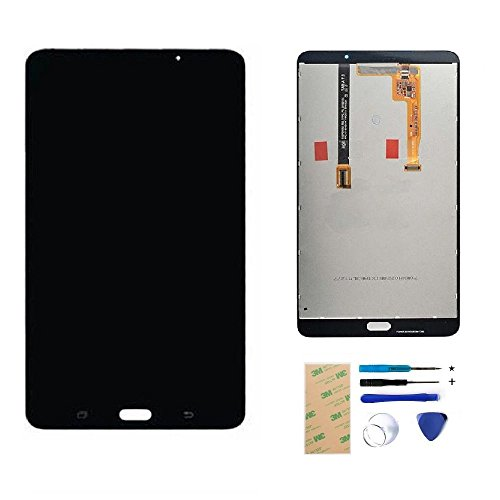 LCD Display Touch Screen Digitizer Assembly for Samsung Galaxy Tab A 7.0 Wifi Tablet SM-T280 Replacement Parts(Black) + Install Tools + Adhesive (Not for 3G version&No Earpiece Hole) by XR