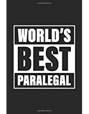 World's Best Paralegal: Lined Notebook and Writing Journal For Professional Unicorns 6x9 120 Page
