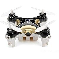 Super Mini RC Quadcopter, Cheerson CX-10C Pocket 2.4G 4CH 6 Axis Gyro LED RC Quadcopter with Camera RTF Black
