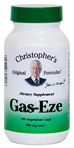 Gas-Eze Formula 100 Veg Capsules by Dr. Christopher's