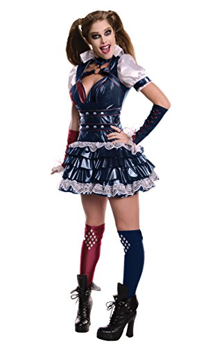 Secret Wishes Women's Arkham Knight Harley Quinn Costume, Multi, X-Small -