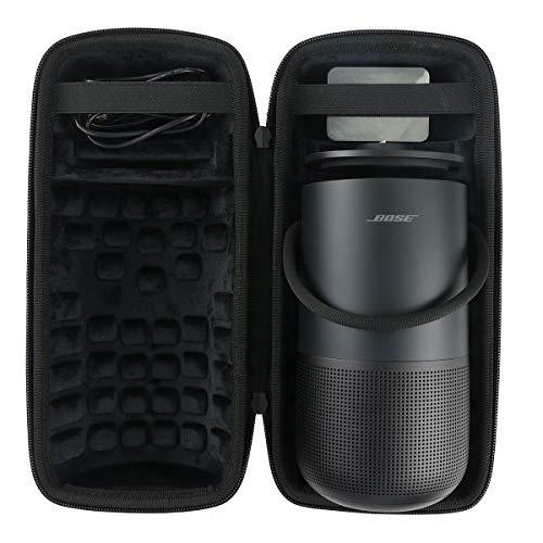 co2crea Hard Travel Case for Bose Portable Home Speaker Charging Cradle (Triple Black Case)