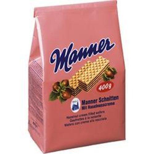 Manner Hazelnut Cream Filled Wafers Bag, 14-Ounce (Pack of 5)