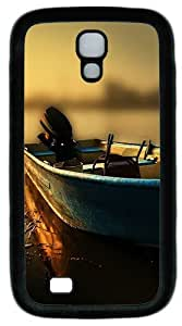 Samsung Galaxy S4 I9500 Case and Cover -Boat At The Pier TPU Silicone Rubber Case Cover for Samsung Galaxy S4 I9500¨CBlack