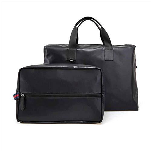 Uomo 2 in 1 Borsa Set Borsa da viaggio sportiva borsa da viaggio portatile da uomo borsa da viaggio da uomo adatta per Business Casual